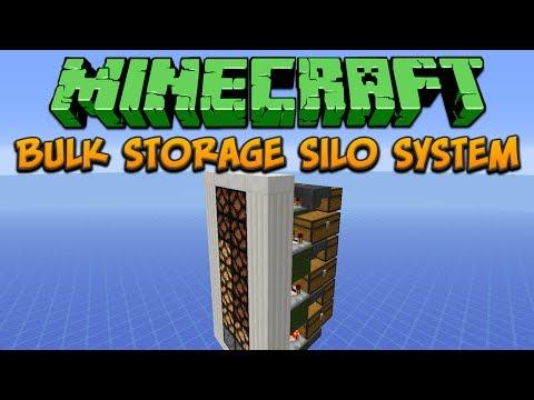 Minecraft: Bulk Storage Silo System Tutorial