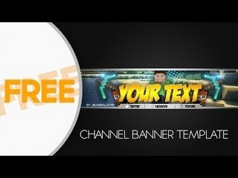 [SpeedArt] FREE HD Minecraft Youtube Channel Banner Template + Tutorial