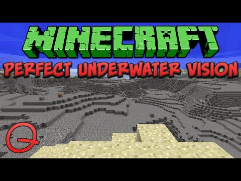 Minecraft: Perfect Underwater Vision (Quick) Tutorial