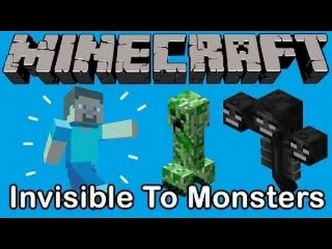 Minecraft: Invisible to Mobs Trick! (Minecraft Tips & Tricks)