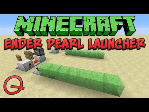 Minecraft 1.8: Ender Pearl Launcher (Quick) Tutorial