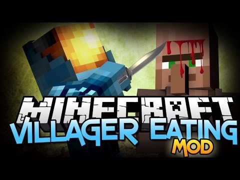 Minecraft Mods: I'M A VILLAGER EATER! - Villager Mincer Mod Showcase