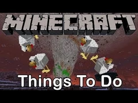 Minecraft : TORNADO CHICKEN BOMB [Cool Things To Do]