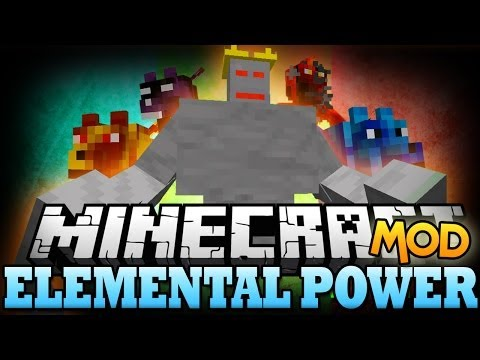 Minecraft Mod | ELEMENTAL POWER MOD - Epic Mobs, Weapons, and More! - Mod Showcase
