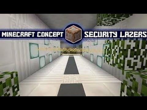 Minecraft Concept - High Security Lasers in Vanilla Minecraft