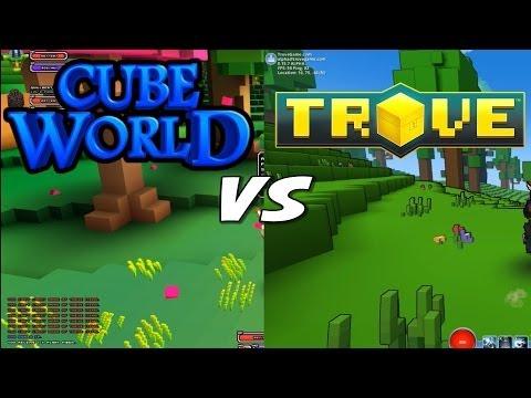 Cube World vs Trove - Gameplay Comparison
