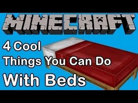 4 COOL THINGS YOU CAN DO WITH BEDS IN MINECRAFT