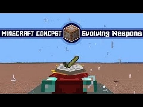 Minecraft Concept: Evolving Weapons Showcase (Improved from @Sethbling)