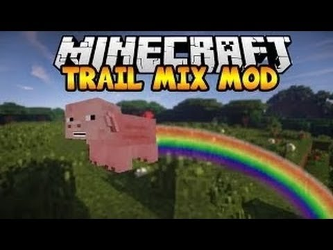 FLYING EXPLODING PIGS IN MINECRAFT (Trail Mix Mod Showcase)