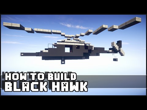 Minecraft Vehicle Tutorial - How to Build : Black Hawk Helicopter