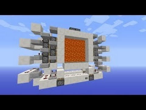 4x4 Automated Lava Doors in Minecraft