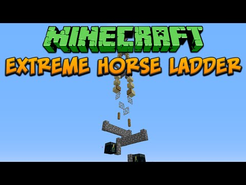 Minecraft: Extreme Horse Ladder Tutorial (Bedrock To Build Limit In 14 Seconds!)
