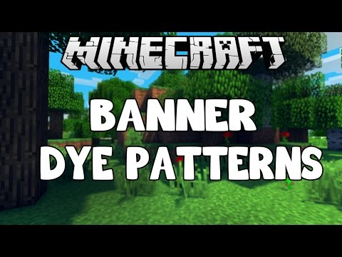 Minecraft 1.8: All Color Patterns for Banners