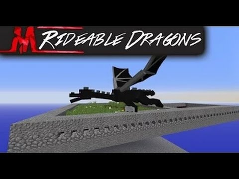 Rideable & Controllable DRAGONS in Vanillia Minecraft