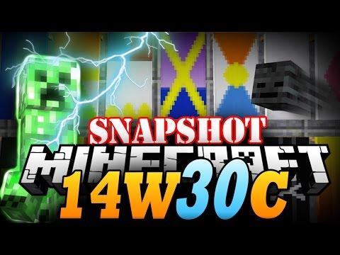 Minecraft Snapshot 14w30c | SKULLS AND BANNERS! - Minecraft 1.8 Update!