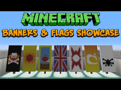 Minecraft 1.8: Banners & Flags Showcase & Tutorial