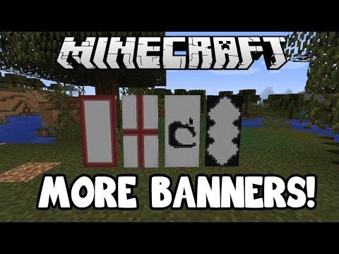 Minecraft 1.8: 4 MORE BANNER PATTERNS