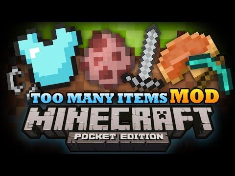 Minecraft Pocket Edition   TOO MANY ITEMS MOD! - MCPE 0.9.4 Mod Showcase!