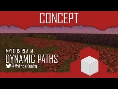Minecraft: Beaten Tracks Concept [Grass to Dirt Paths]