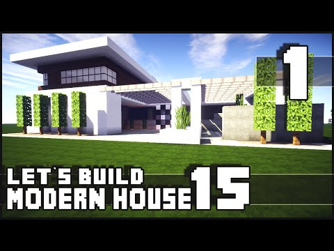 Minecraft Lets Build Modern House 15
