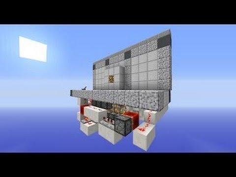 3x3 Hidden Pop Out Door in Minecraft 1.8