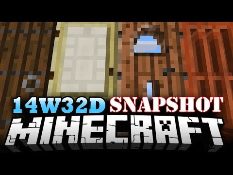 Minecraft Snapshot 14W32D | NEW DOORS, GATES, AND FENCES! - Minecraft 1.8 Update!
