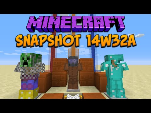 Minecraft 1.8: Snapshot 14w32a Armor Stands, Colored Beacon Beams & Red Sandstone