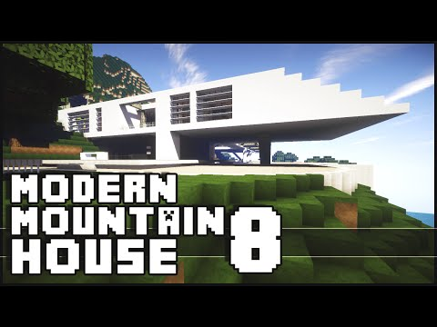 Minecraft - Modern Mountain House 8