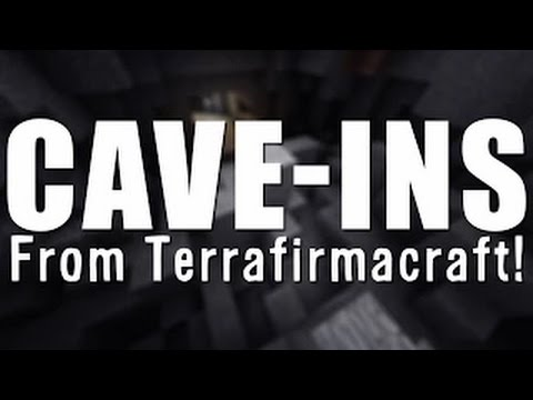 MINECRAFT UNMODDED: Cave Ins From Terrafirmacraft Mod!