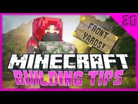Minecraft Building Tips / Advice: Front Yards / Garden Tutorial