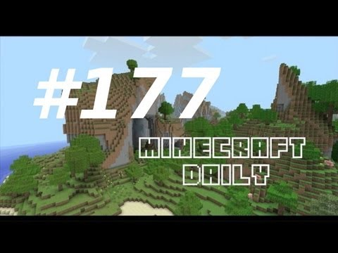 Minecraft Daily 09/01/12 (177) - Creeper Plushie! Pocket Edition Update! Block Transformation!