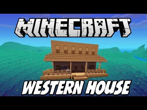 Western House Build Challenge - How to Build in Minecraft