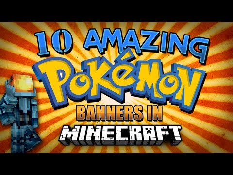 Minecraft 1.8 | 10 Amazing Pokemon Banners in Minecraft 1.8 (Charizard, Pikachu, and More!)