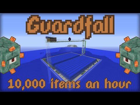 Guardfall 10,000 Items An Hour (Minecraft 1.8 Guardian Farm)