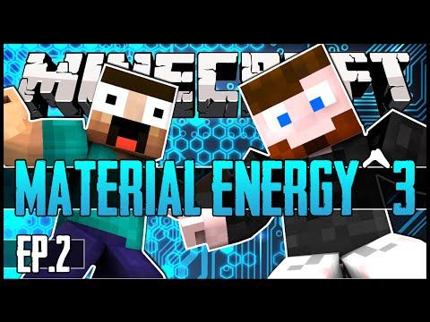 Minecraft - Material Energy^3 - Ep.02 w/ Skyzm