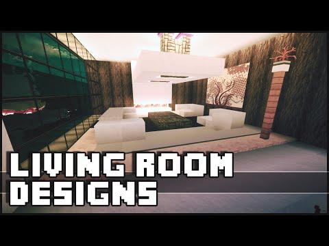 Minecraft - Living Room Designs & Ideas