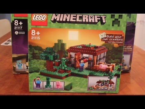 LEGO Minecraft Box Sets - The First Night and Ender Dragon