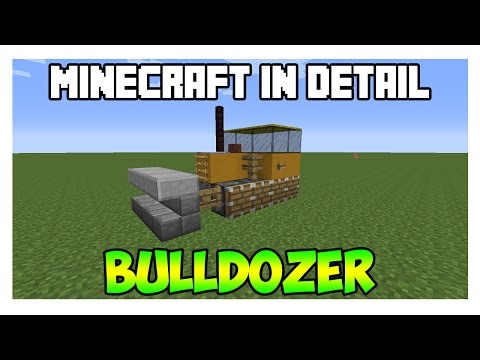 Minecraft in Detail - BULLDOZER (How to build a bulldozer in minecraft)