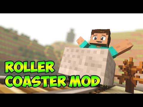 Minecraft 1.7.10 Mods | ROLLER COASTER (Mod Showcase) CREATE CRAZY COASTERS!