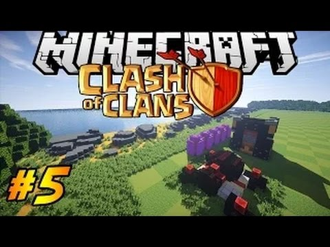 Let's Build Clash of Clans in Minecraft PART 5 | Archer Towers, Walls