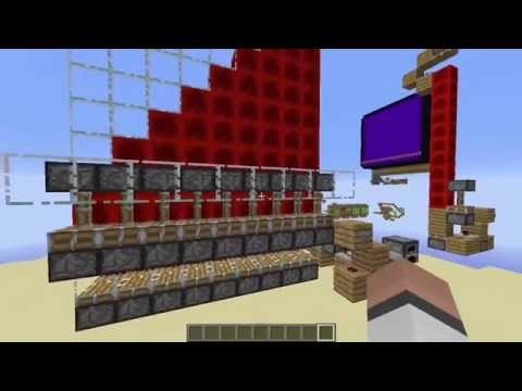 Minecraft Redstone: COOL PISTON SNAKE STAIRCASE CONCEPT