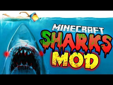 Minecraft Mod | KILLER SHARKS MOD! (Sealife, Harpoons, and More!) - Jaws Mod Showcase