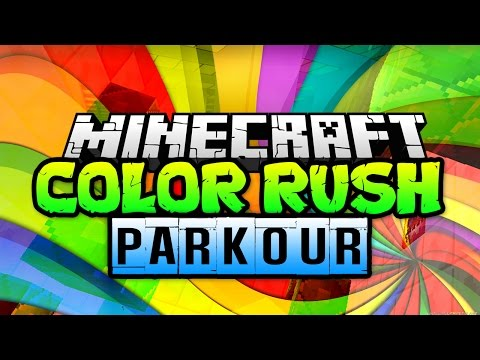Minecraft WHO WILL WIN!? - Color Rush Parkour with TrueMU, Logdotzip, and Nooch! (Minecraft Parkour)