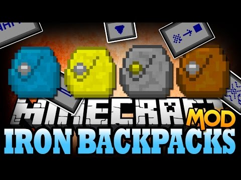 Minecraft Mod | IRON BACKPACKS MOD! (Crazy Upgrades and More!) - Mod Showcase
