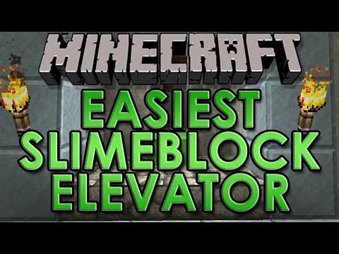 Easiest Slimeblock Elevator in Minecraft