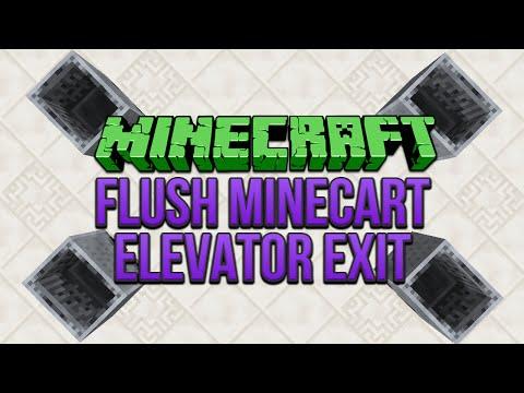 Minecraft: Flush Minecart Elevator Exit Tutorial