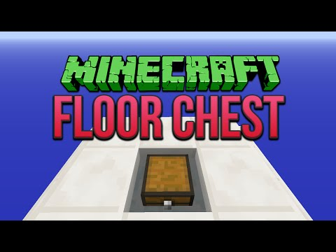 Minecraft: Floor Chest Tutorial