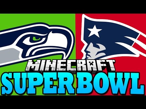 Minecraft SUPER BOWL | Patriots VS Seahawks - NFL Football in Minecraft