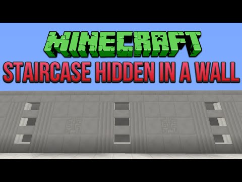Minecraft: Staircase Hidden In A Wall Tutorial