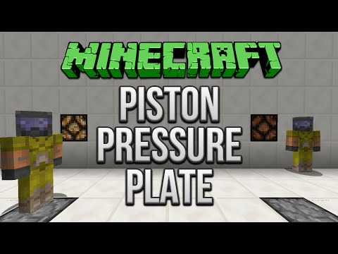 Minecraft: Piston Pressure Plate Tutorial